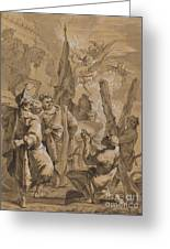Martyrdom Of Saint Andrew Greeting Card
