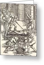 Martyrdom Of Saint Lawrence Greeting Card