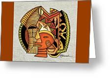 Maruvian Masks 1 Greeting Card