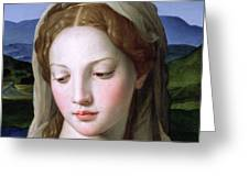 Mary Greeting Card by Agnolo Bronzino