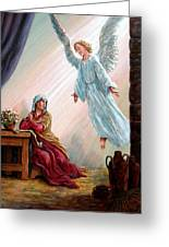 Mary And Angel Greeting Card
