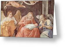 Mary And Angels 1611 Greeting Card