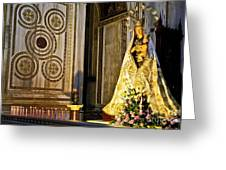 Mary And Baby Jesus In Palermo Greeting Card