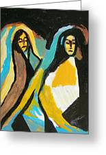 Mary And Josephine Greeting Card