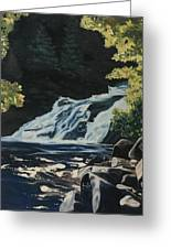Mary Ann Falls On The Cabot Trail Greeting Card