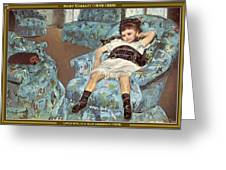 Mary Cassatt-little Girl In A Blue Armchair1878 Po Amp 059 Mary Cassatt Greeting Card