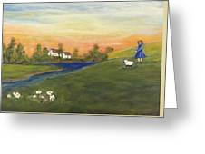 Mary Had A Little Lamb Greeting Card