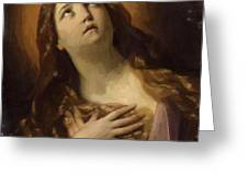 Mary Magdalene In Ecstasy At The Foot Of The Cross 1629 Greeting Card