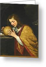 Mary Magdalene In Meditation  Greeting Card