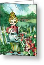 Mary Mary Quite Contrary Greeting Card by Mindy Newman