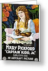 Mary Pickford In Captain Kidd Jr Greeting Card