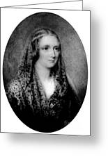 Mary Shelley, English Author Greeting Card
