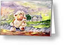 Mary The Scottish Sheep Greeting Card
