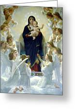 Mary With Angels Greeting Card
