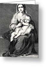 Mary With The Child Jesus Greeting Card