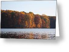 Maryland Autumns - Clopper Lake - Fall Bloom Greeting Card