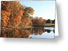 Maryland Autumns - Clopper Lake - Kingfisher Overlook Greeting Card