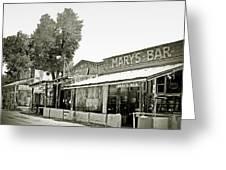 Mary's Bar Cerrillo Nm Greeting Card