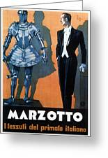 Marzotto - Italian Textile Company - Vintage Advertising Poster Greeting Card