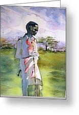 Masaai Boy Greeting Card