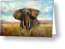 Masai King Greeting Card