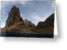 Masca Valley Entrance Panorama Greeting Card