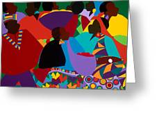 Masekelas Marketplace Congo Greeting Card