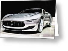 Maserati Alfieri Concept 2014 Greeting Card