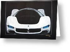 Maserati Birdcage 75th Concept Greeting Card