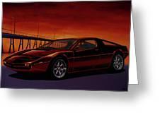Maserati Merak 1972 Painting Greeting Card