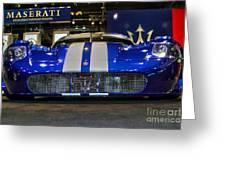 Maserati Racer Greeting Card