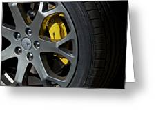 Maserati Wheel Greeting Card
