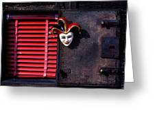 Mask By Window Greeting Card by Garry Gay