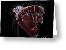 Mask Crystal Greeting Card