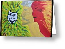 Mask Of Life Greeting Card