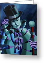 Mask Of The Magician - Abstract Oil Painting Greeting Card by Mark Webster