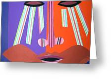 Mask With Streaming Eyes Greeting Card