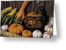 Masked Pumpkin Greeting Card