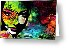 Masking Ego Greeting Card by Ramneek Narang