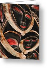 Masks Of Africa Greeting Card