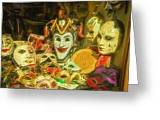 Masks Of Venice Greeting Card