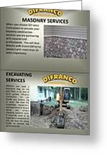 Masonry Contractor Services Greeting Card
