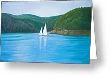 Mason's Sailboat Greeting Card