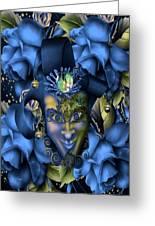 Masquerade Blues Greeting Card