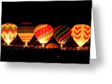 Mass Balloon Glow Greeting Card