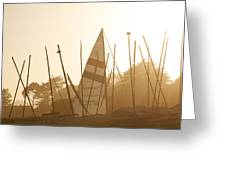 Mass Of Ships Greeting Card