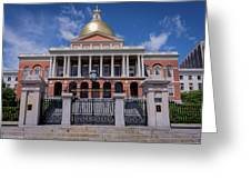 5- Massachusetts State House Eckfoto Boston Freedom Trail Greeting Card