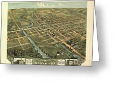 Massillon Ohio 1870 Greeting Card