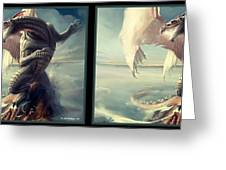 Massive Dragon - Gently Cross Your Eyes And Focus On The Middle Image Greeting Card
