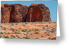 Massive Sandstone Cliffs Valley Of Fire Greeting Card
